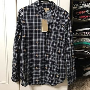 Burberry women's button down size 06